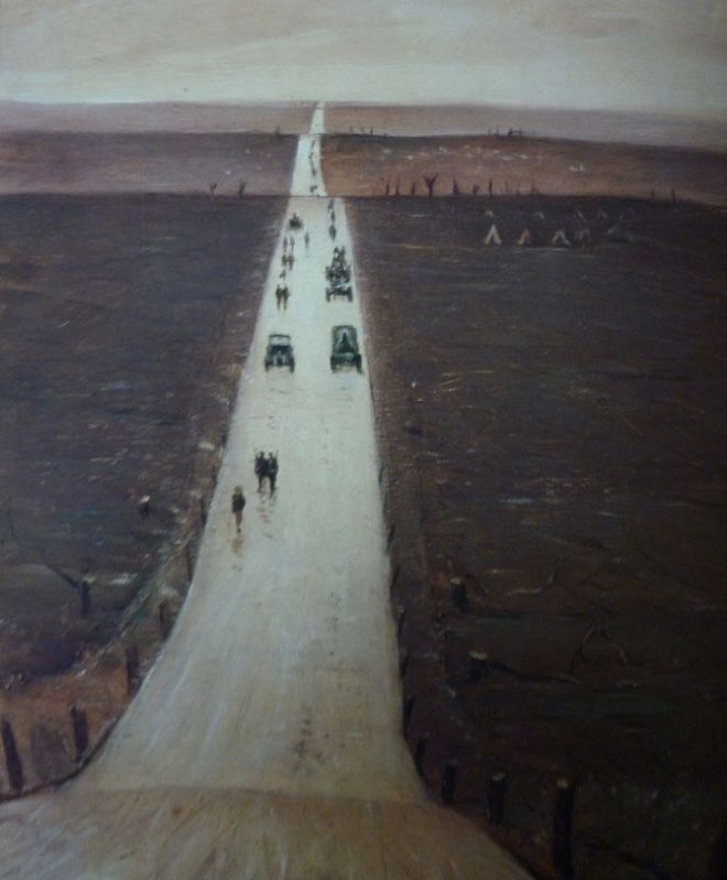 Nevinson-the-road-from-arras-to-papaume