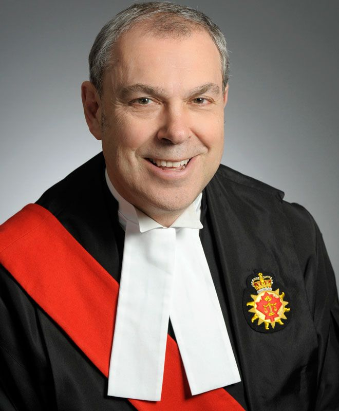 Kingston University alumni Graeme Mew, Judge, Superior Court of Justice, Ontario