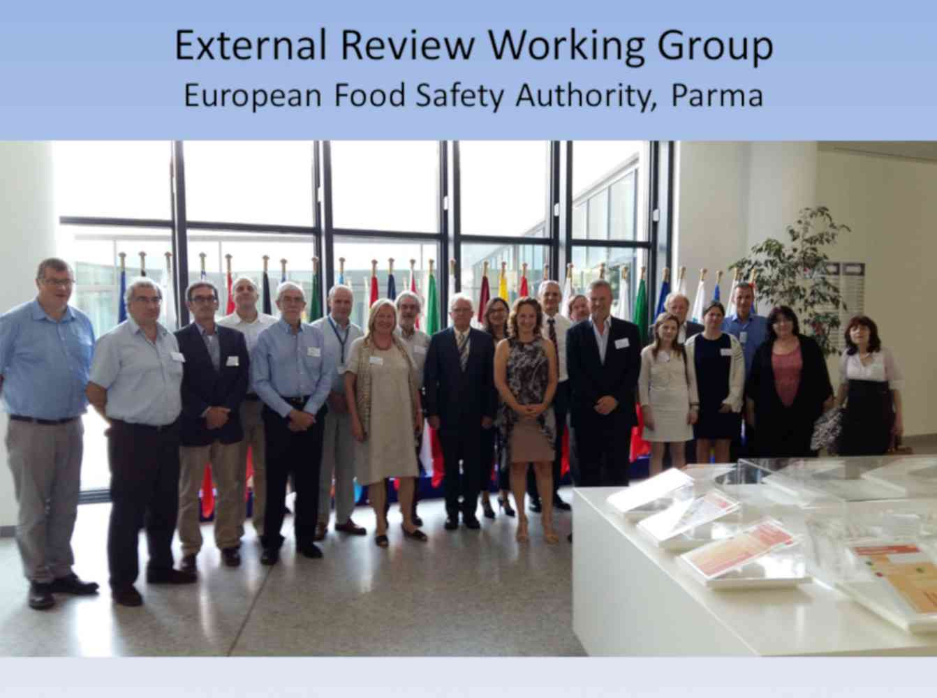External Review Working Group for the European Food Safety Authority - ERWG Meeting at Parma