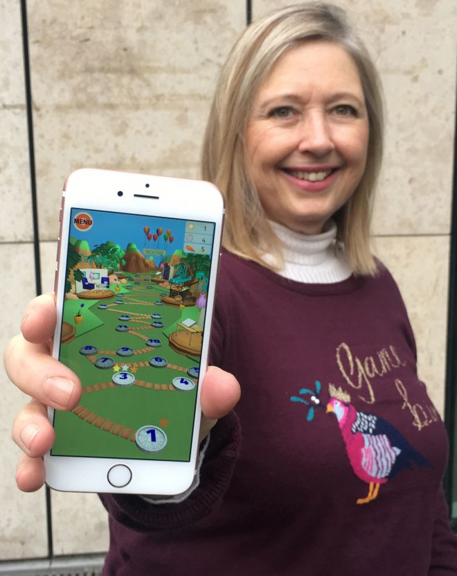 Games processes lecturer Hope Caton wanted to combine fun gaming with educational messages in a smartphone app.