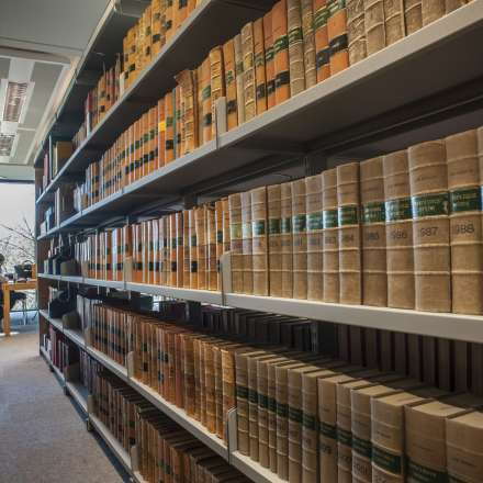 Law library collection at Kingston Hill campus