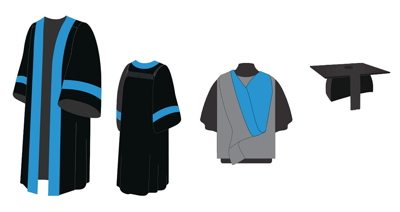 Integrated Masters gown