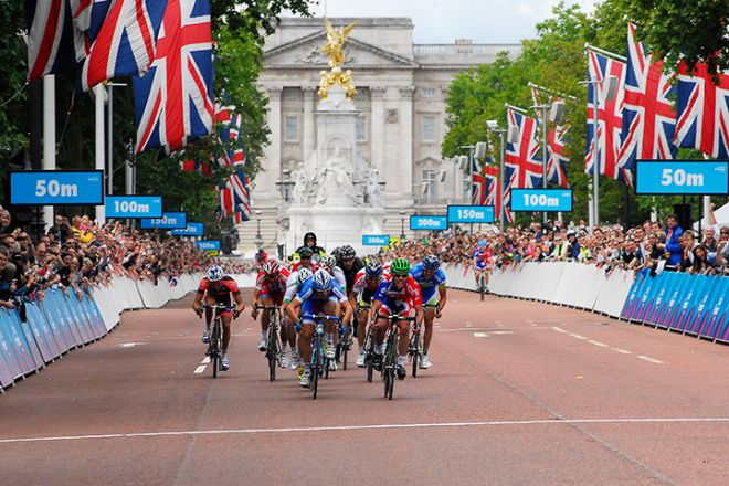 Prudential Ride London cyclists