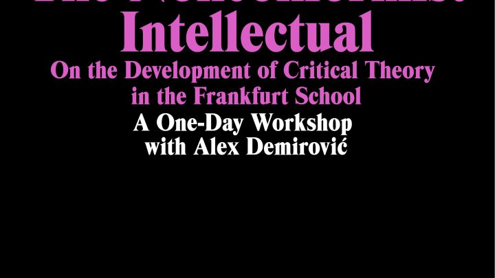 The Nonconformist Intellectual: A Workshop with Alex Demirovic on the Frankfurt School of Critical Theorists
