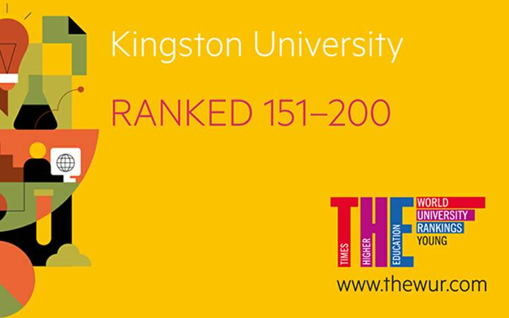 Times Higher Education ranks Kingston University in top 200 young institutions across the globe