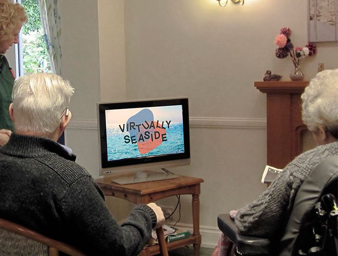 Emily\'s programme \'Virtually Seaside\' is designed for people with dementia to relive their seaside holidays.