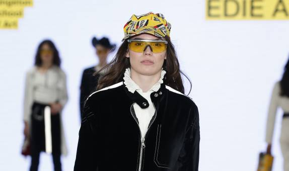 Kingston School of Art designer Edie Ashley pays tribute to her trailblazing grandmother Laura Ashley in cowgirl and biker themed Graduate Fashion Week collection