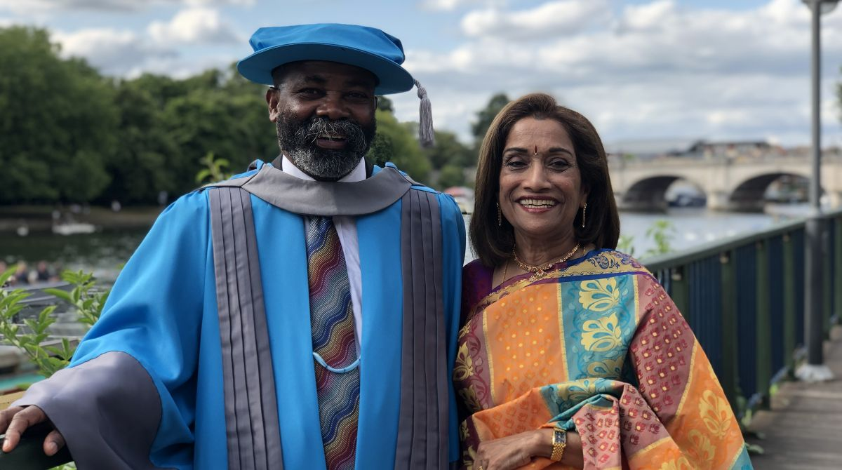 Your brains will set you free, Director of Kingston Race and Equalities Council tells graduates as he is awarded an honorary degree by Kingston University