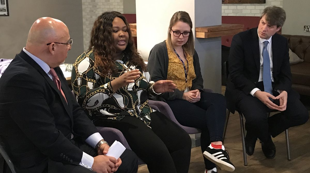 Government Ministers Chris Skidmore and Nadhim Zahawi praise Kingston University for support it offers care leavers throughout  their studies