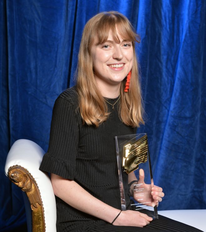 Martha Halliday and Hannah McNally (pictured) won the Undergraduate Short feature Award.