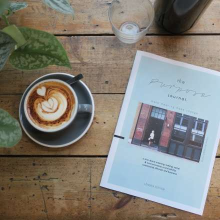 The Purpose Journal - a 'zine about meaning-making, social and environmental sustainability, community, lifestyle and business, by Katie Sharman