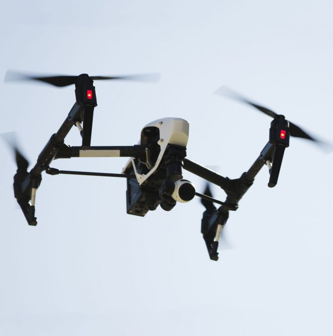 As part of the project the Kingston University team will be looking at how drones and other methods of video surveillance could be used as part of an internet-connected security system. Matt Rourke/AP/REX/Shutterstock