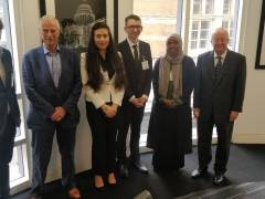 Alumnus Robert Rakison hosts law students ahead of the International Criminal Court Moot competition in The Hague