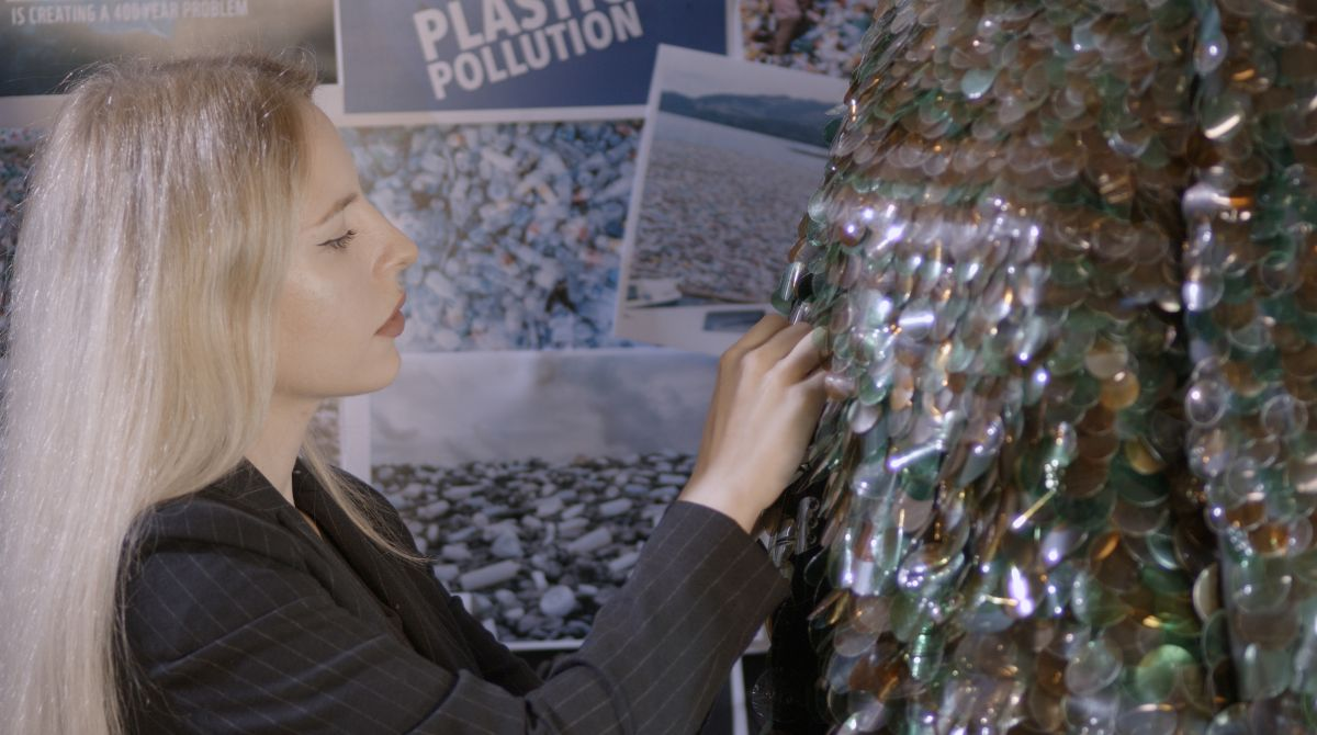 Plastic waste cleared from forest finds new life in Kingston School of Art MA student's sustainable fashion collection