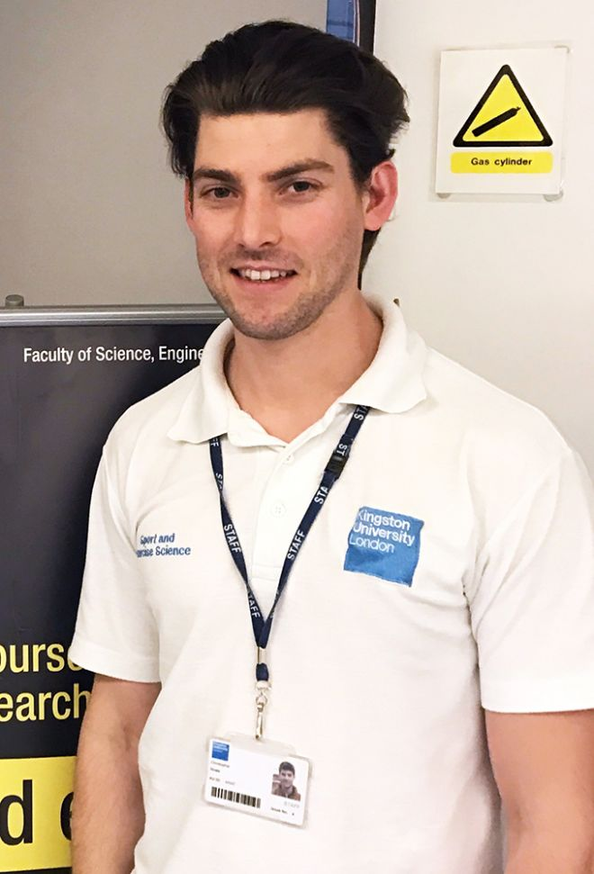 An image of exercise physiology technician Chris Howe