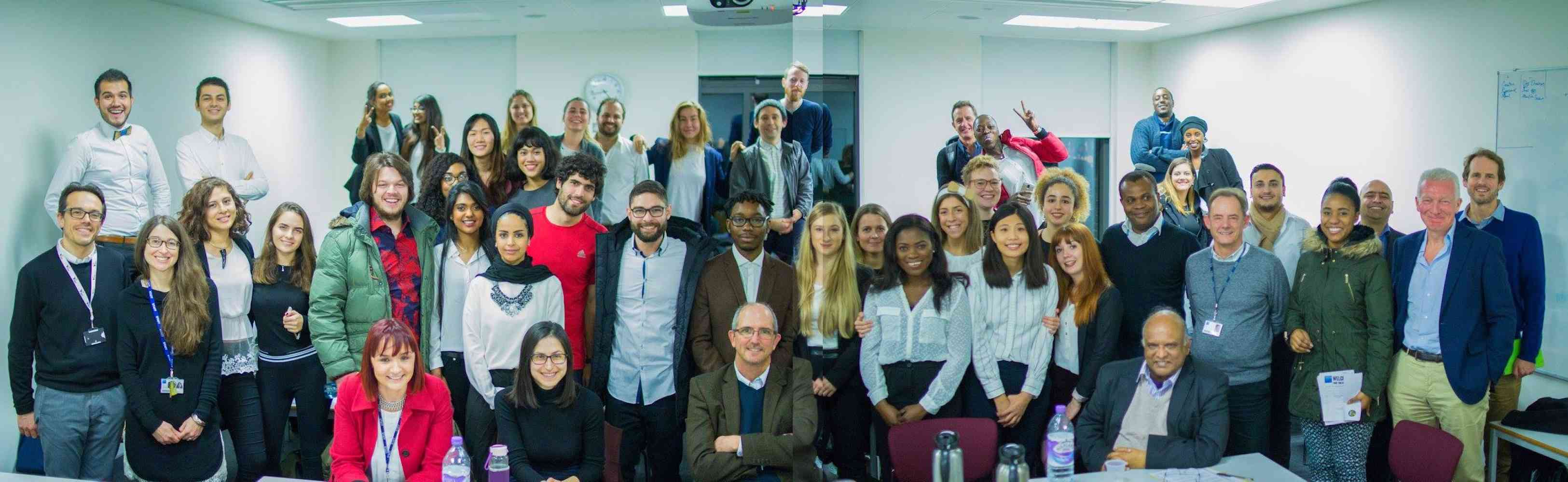 Kingston Business School Dragons' Den December 2016 - Start-up teams and judges at Kingston Business School Dragons' Den December 2016