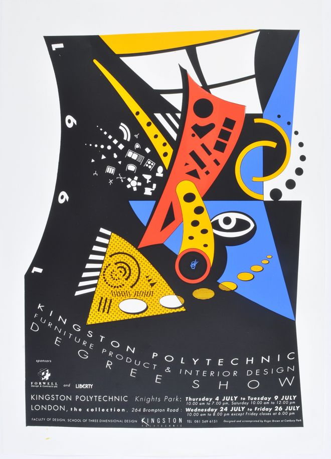 The promotional poster for the 1991 undergraduate art and design degree show, which was the institution's last as a polytechnic before it became a university in 1992.