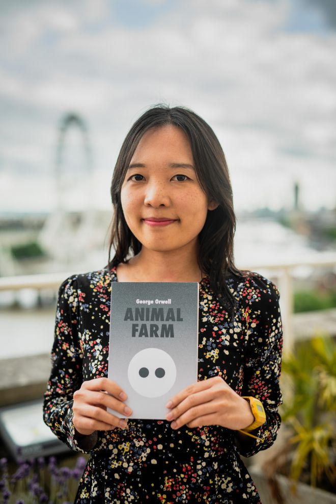 Raemarie Lee with her award-winning cover – picture credit: Al Richardson