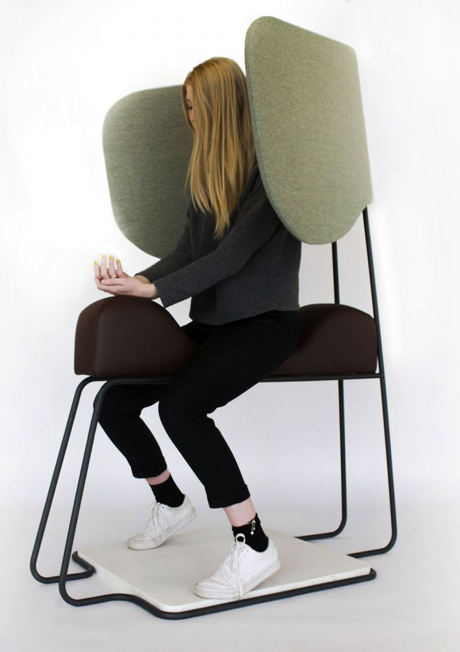 The Meditasi Chair, designed by 3rd year product and furniture design student Sara Pagani