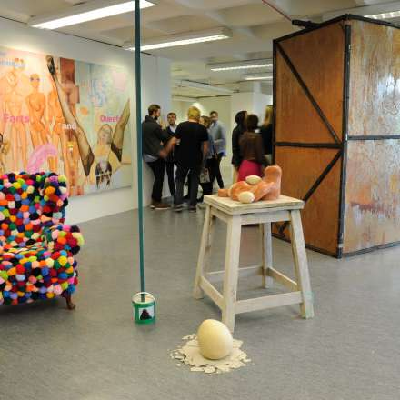 Student work on display at the degree show
