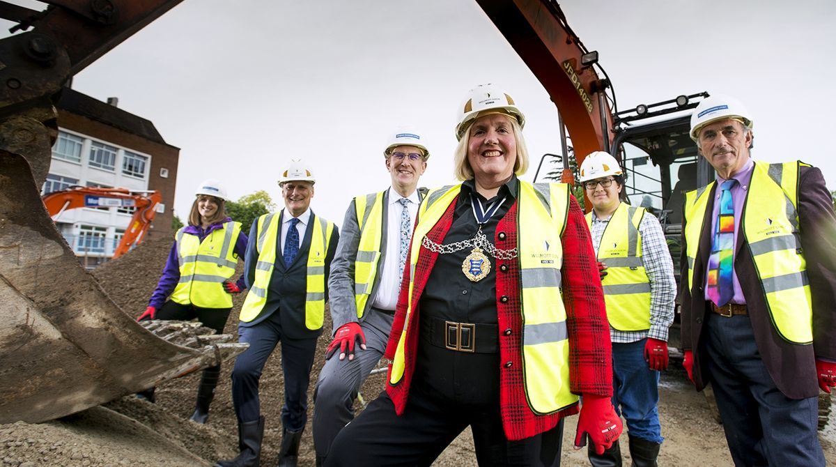 Borough leaders mark start of construction on Kingston University's landmark Town House building