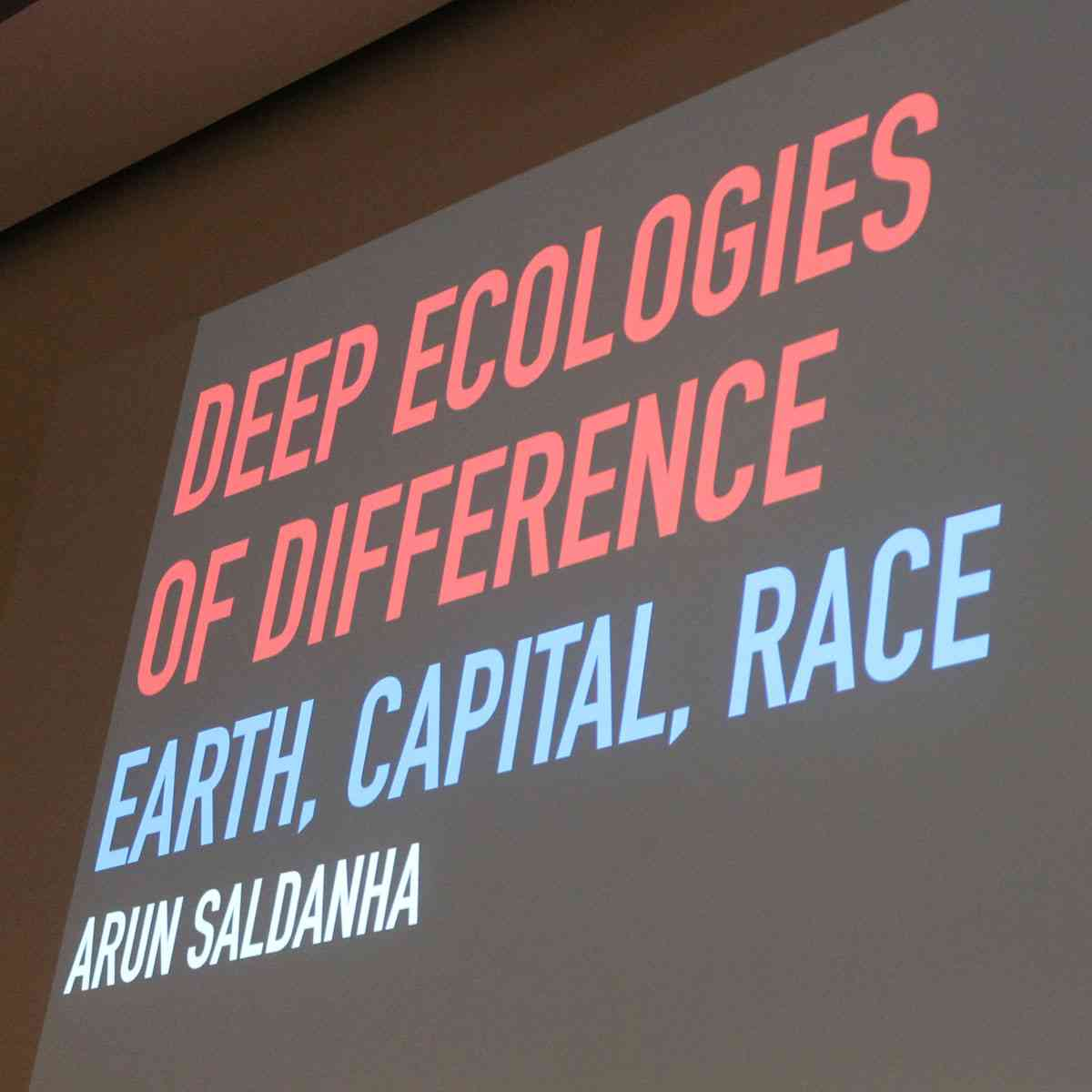 Arun Saldanha - Professor Arun Saldanha (University of Minnesota) has been teaching at the Department of Geography since 2004. From 2016-18 he is Image Fund Arts, Design and Humanities Chair.