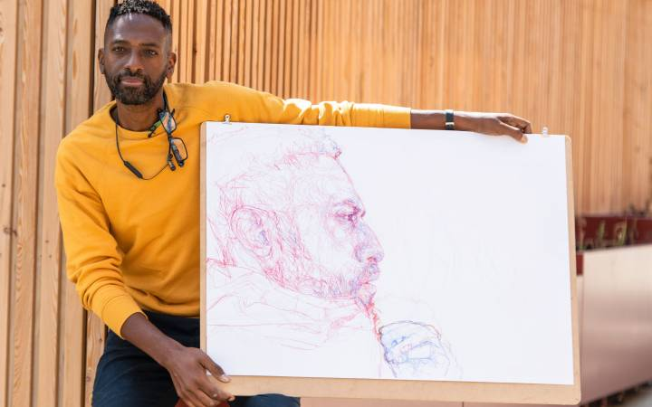Sky Arts Portrait Artist of the Year winner and Kingston School of Art graduate Curtis Holder reflects on time at university and shares tips for emerging artists