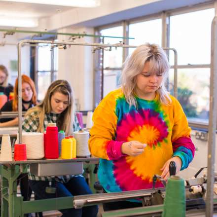 Fashion and textiles workshop at Kingston School of Art