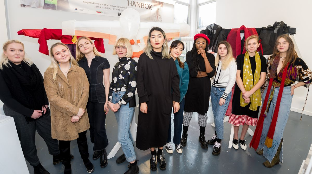 Creative Collaboration From Kingston School Of Art Fashion Students And Royal School Of Needlework Gives Modern Twist To Traditional Korean Hanbok News Kingston University London