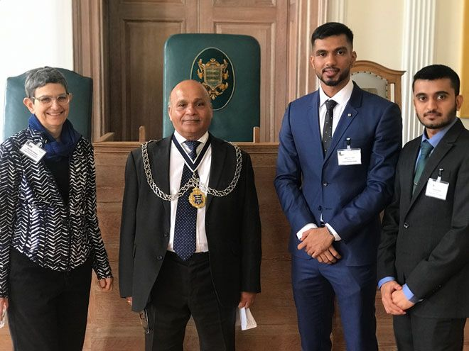 Kingston Mayor Thay Thayalan got the chance to hear from creative ideas from the University\'s students