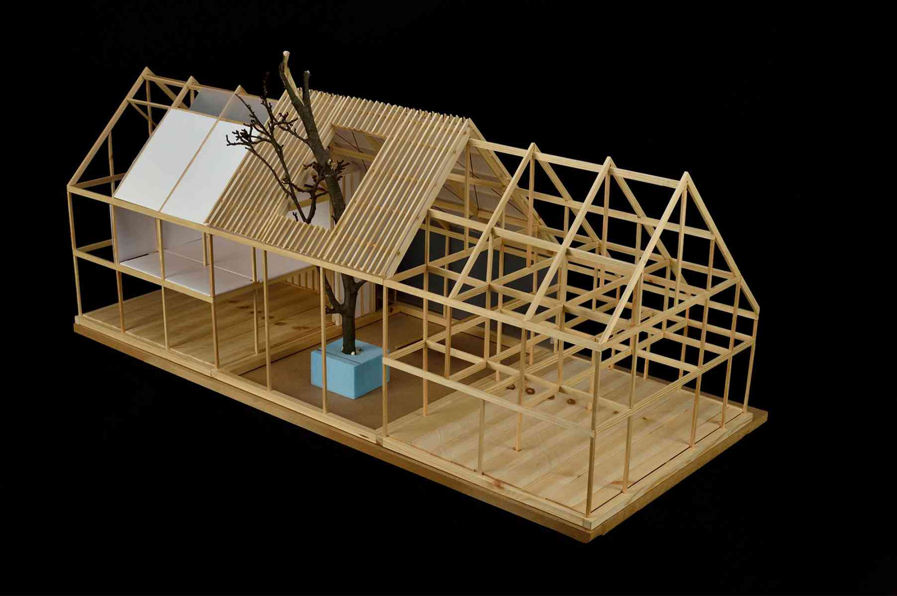 Marton Deme - Wimpole Hall Proposal - Developement Model, External view