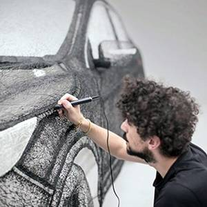 Kingston University design students play key role in project commissioned by car manufacturer Nissan to create world's largest 3D pen sculpture