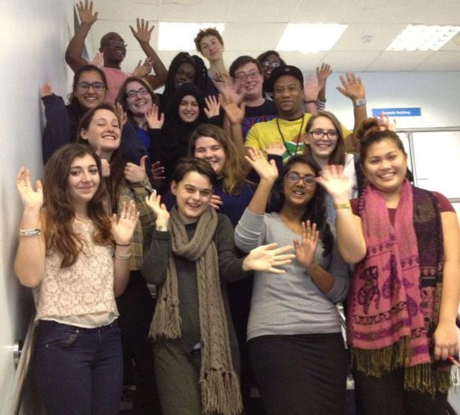 Kingston University\'s Annual Fund team of students