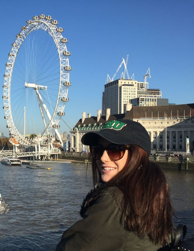 Study abroad student Delaney Gagen on the River Thames