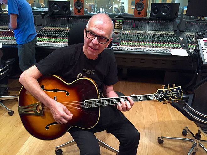 Record producer Tony Visconti opened the new analogue recording studio at Kingston Hill campus