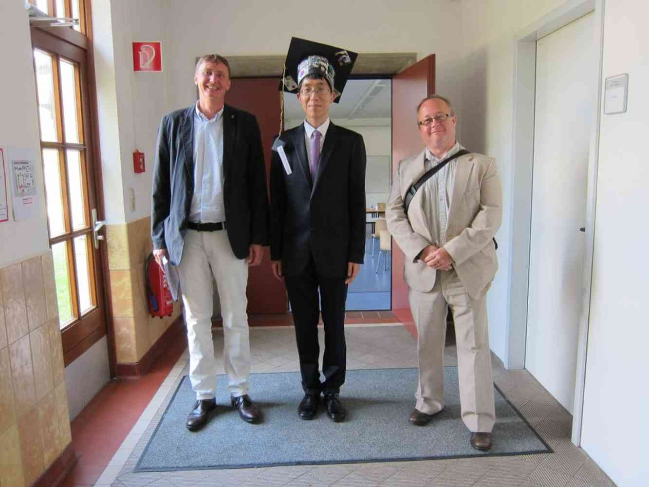 PhD Viva as External Examiner - Jacobs University, Bremen, Germany - Dr. Seung-Hun Lee with Prof. Dr. Nikolai Kuhnert and Dr. Adam Le Gresley