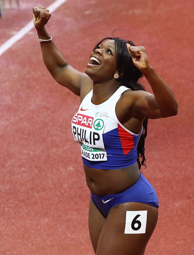 Kingston University graduate Asha Philip at the European Indoor Athletics Championships in Belgrade, Serbia. Photo credit: Matthew Lewis/Getty Images