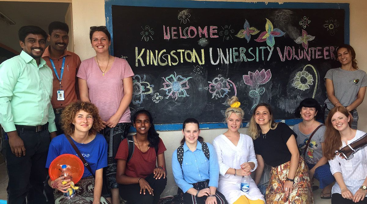 Kingston University student volunteers make a difference with Lebara Foundation in community schools in India and Sri Lanka