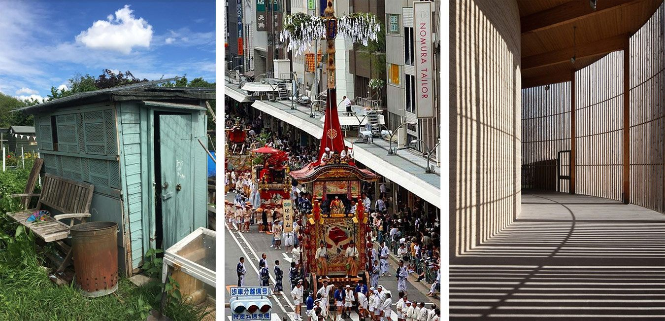 Tolworth Allotment, Gion Festival in Kyoto, and the Chapel of Reconciliation, Berlin