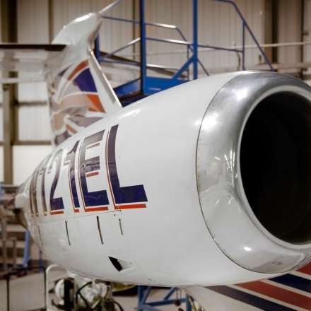 Lear Jet engine close up