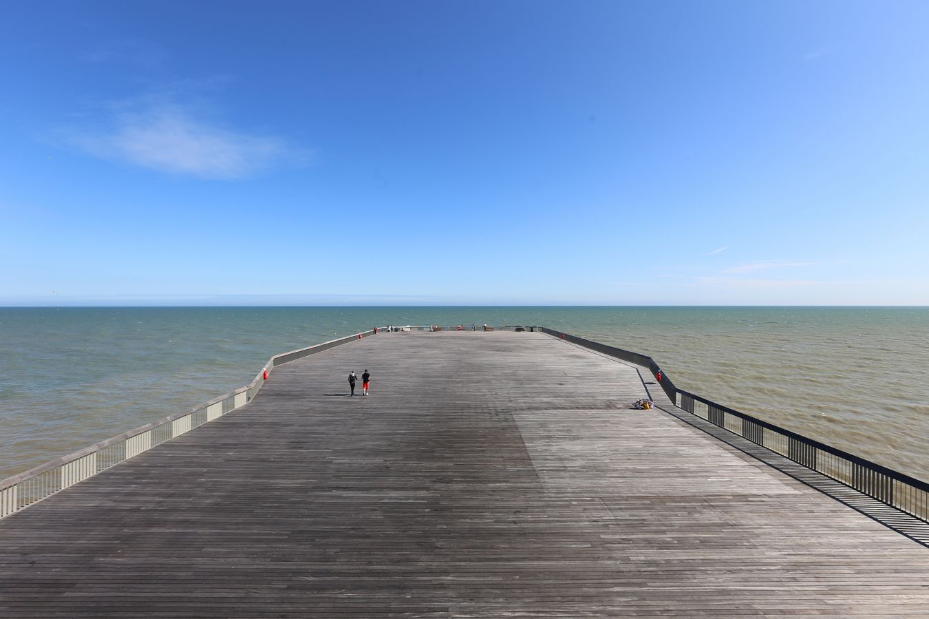 The newly designed pier provides 11,720 square metres for a variety of public uses. Picture credit: Alex de Rijke
