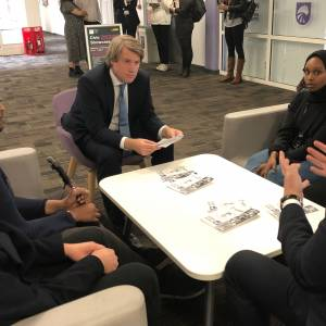 Universities Minister Chris Skidmore discusses importance of education and significance of Black History Month in return visit to Kingston University