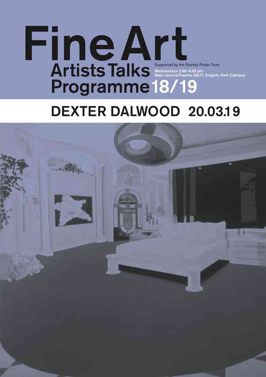 Fine Art Artists Talks programme poster - Dexter Dalwood
