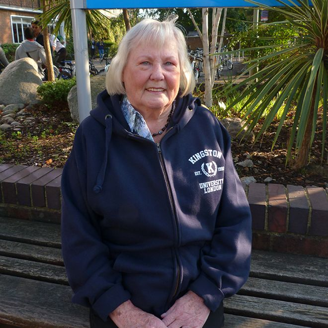 80 year-old Hilary Chalkly enrolled on the MA Creating Writing course at Kingston University