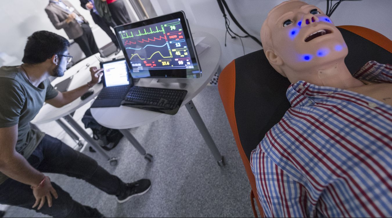 Hal, the patient simulator robot, is an example of some of the cutting-edge equipment made available to staff and students at Kingston University.