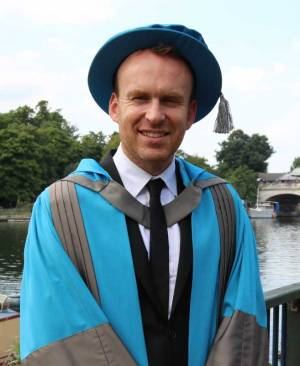 Award-winning author Matt Haig receives an Honorary Doctorate from Kingston University