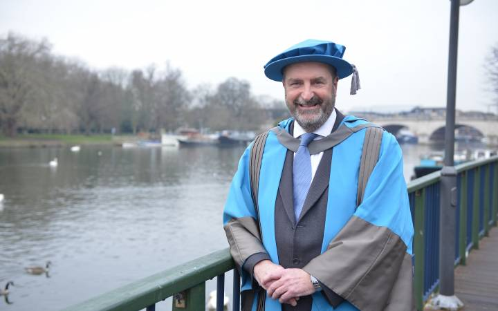Former chief executive of Kingston Council whose vision for theatre and Olympic cycling transformed the borough receives honorary doctorate