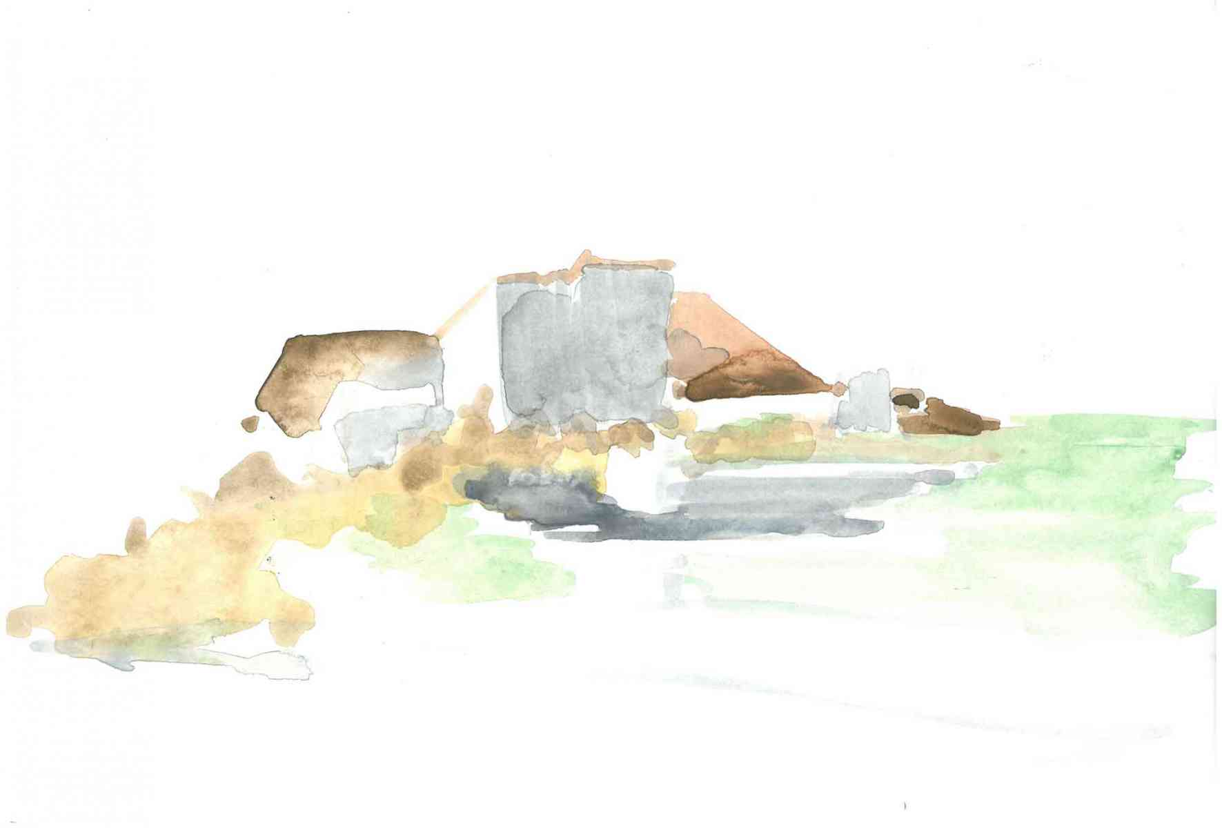 Alice Richardson - Teahouse. Alvaro Siza. Watercolour