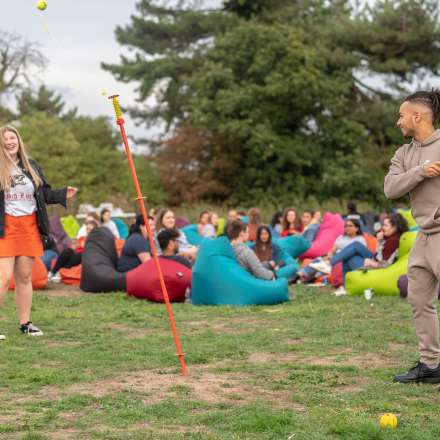 Halls welcome event at Clayhill Halls of Residence