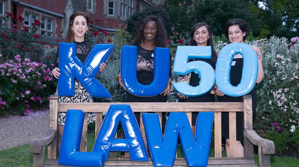 Alumni celebrate 50 years of Kingston Law School at Middle Temple